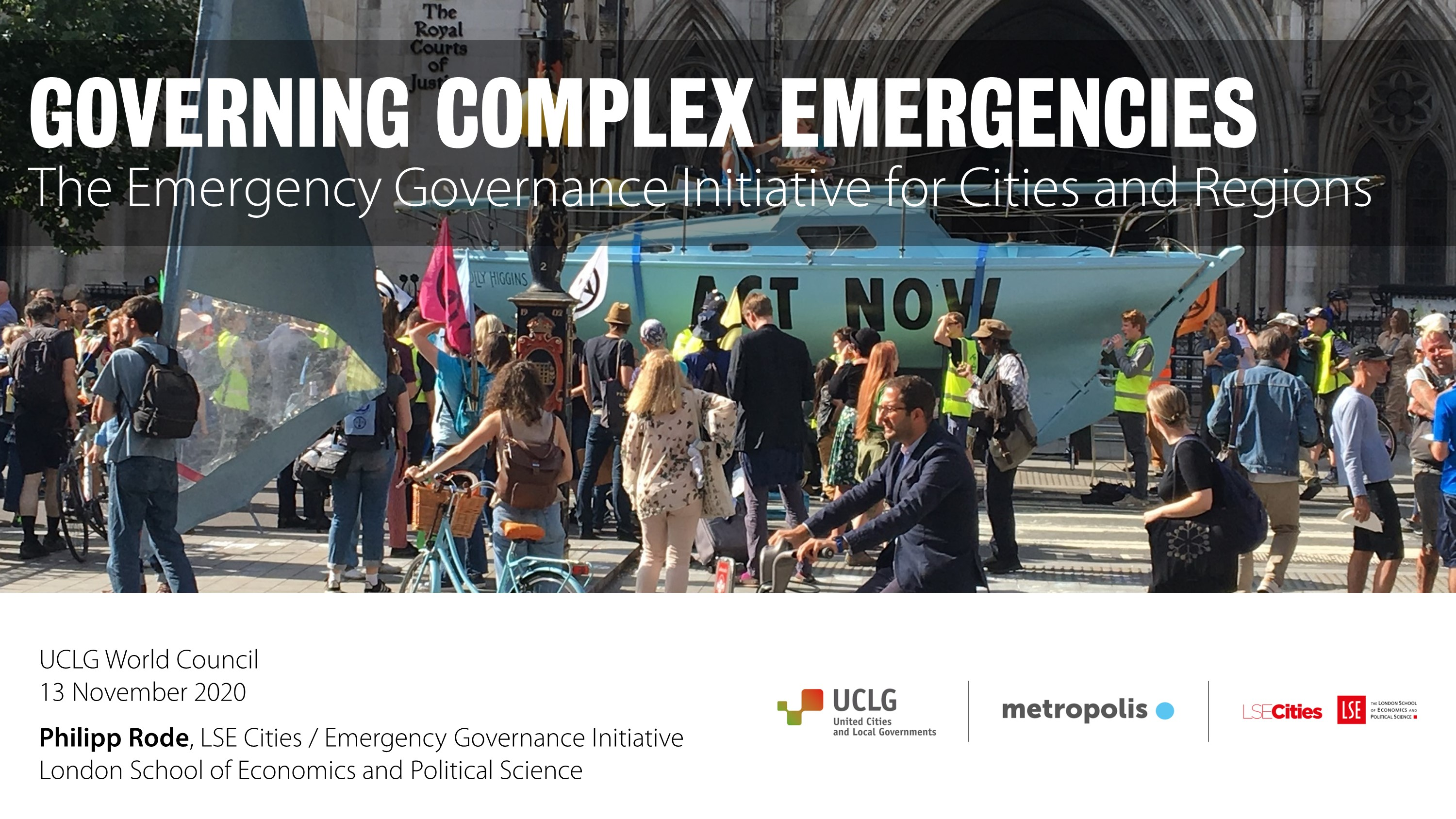 Watch Philipp Rode's Presentation on Governing Complex Emergencies