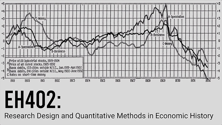 EH402 Quantiative Analysis in Economic History