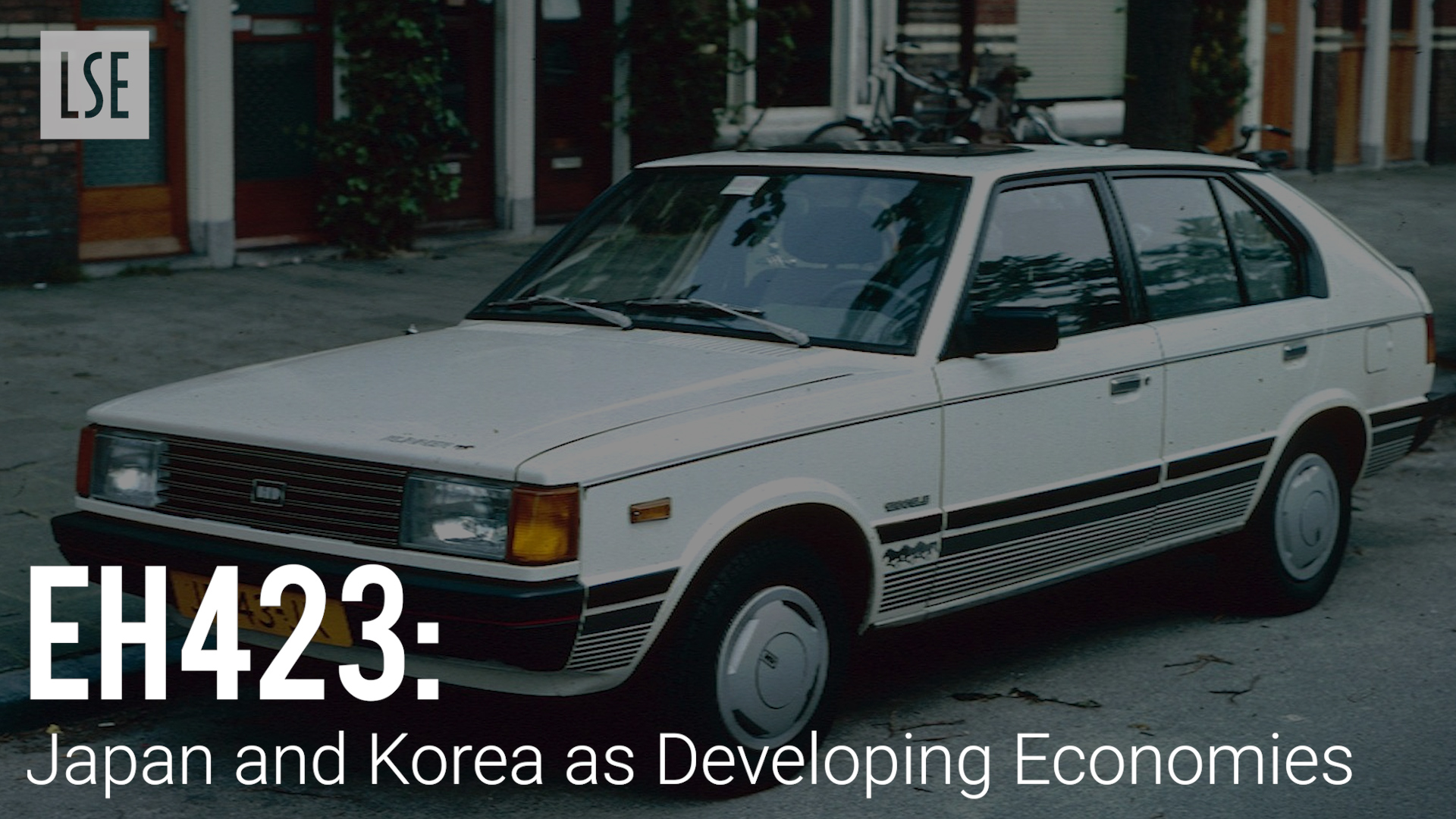 EH423 Japan and Korea as Developing Economies