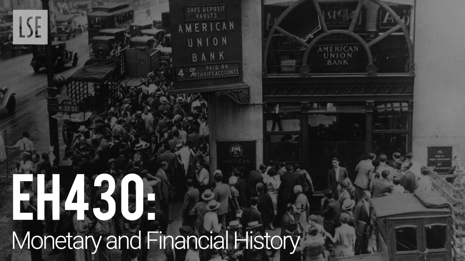 EH430 Monetary and Financial History