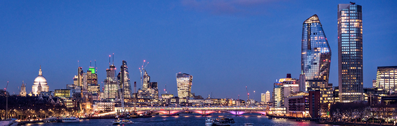 Panoramic view of central London