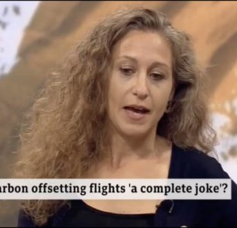 Interview about carbon offsetting for air travel