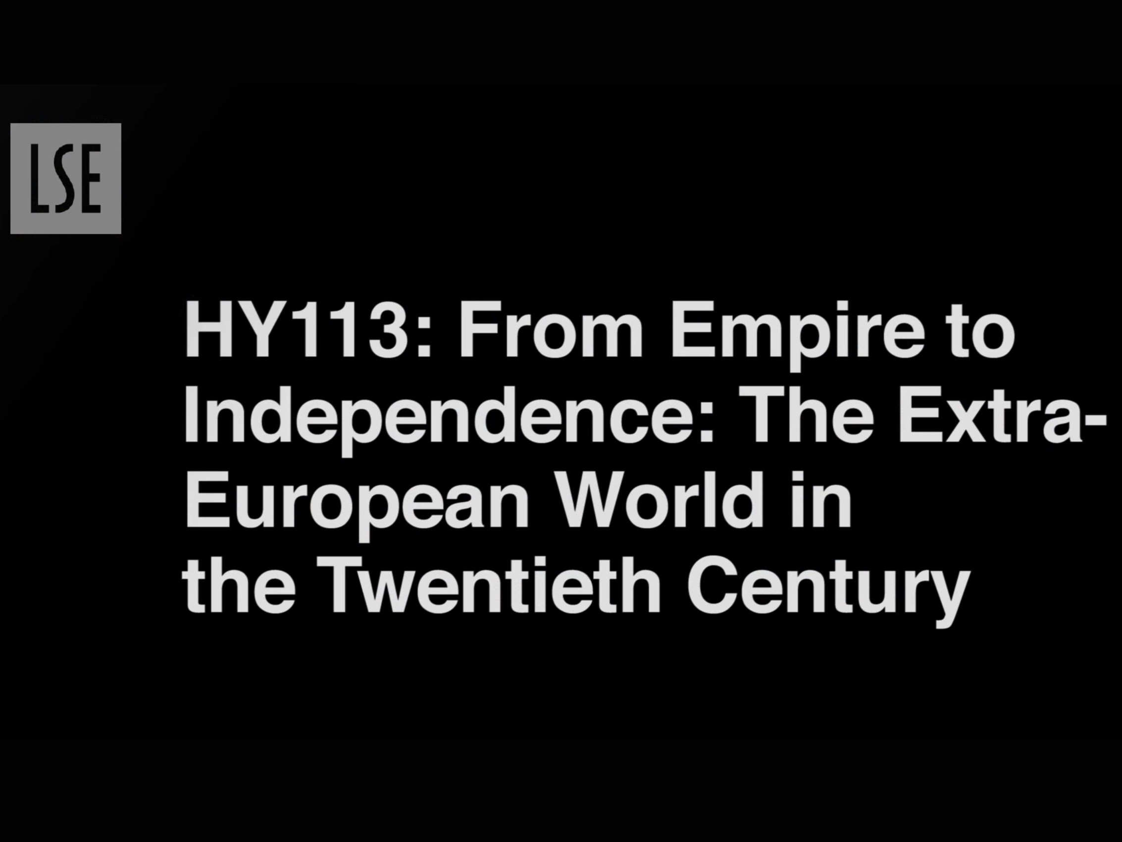 HY113: From Empire to Independence