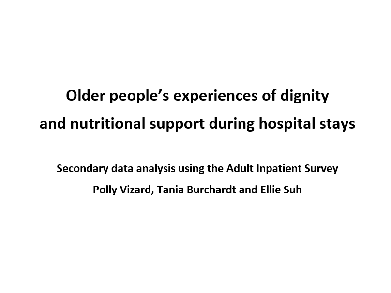 Older people's experiences of dignity and nutritional support during hospital stays
