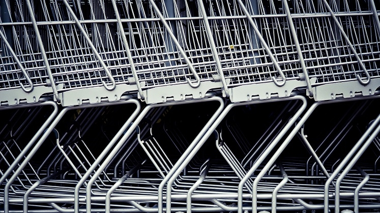 This is a picture of shopping carts