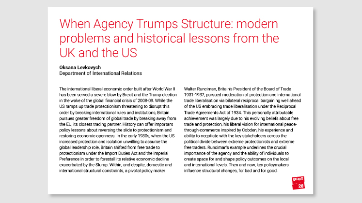 When Agency Trumps Structure: modern problems and historical lessons from the UK and the US