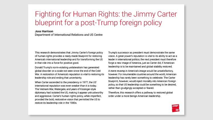 Fighting for Human Rights: the Jimmy Carter blueprint for a post-Trump foreign policy