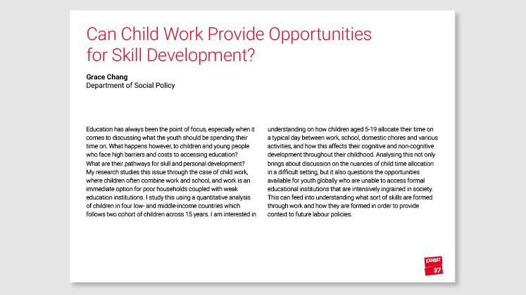 Can Child Work Provide Opportunities for Skill Development?