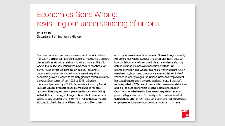 Economics Gone Wrong: revisiting our understanding of unions