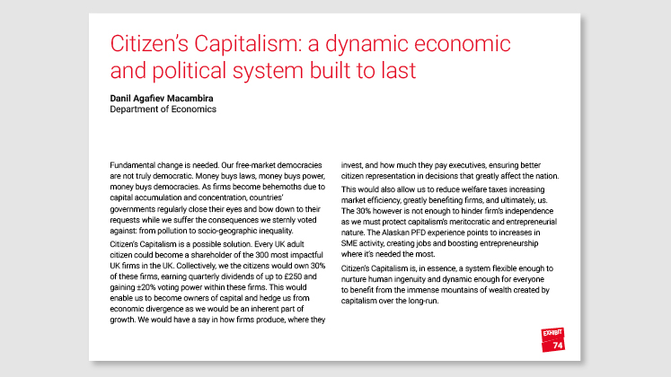 Citizen's Capitalism: : a dynamic economic and political system built to last