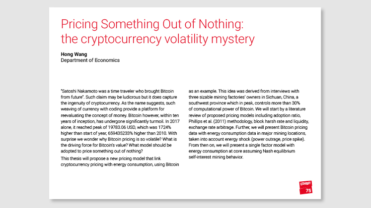 Pricing Something Out of Nothing: the cryptocurrency volatility mystery