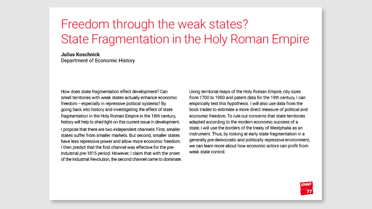 Freedom Through the Weak States? State Fragmentation in the Holy Roman Empire