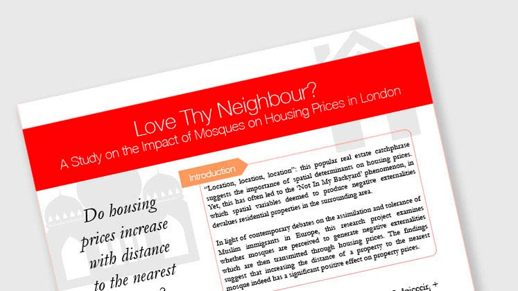 Love Thy Neighbour? A Study on the Impact of Mosques on Housing Prices in London