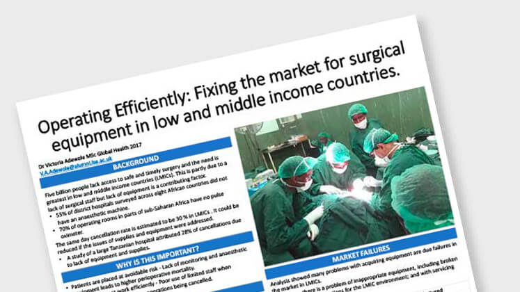 Operating Efficiently: Fixing the Market for Surgical Equipment in Low and Middle Income Countries