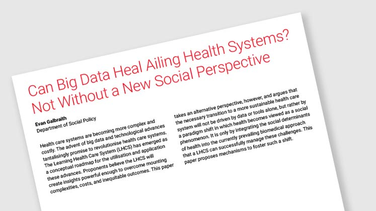 Can Big Data Heal Ailing Health Systems? Not Without a New Social Perspective