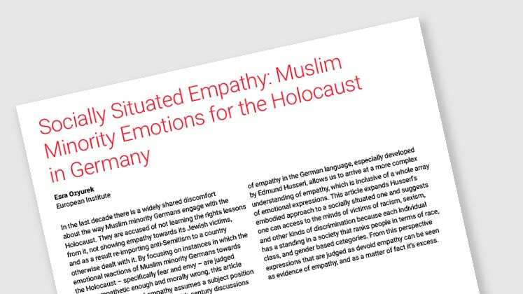 Socially Situated Empathy: Muslim Minority Emotions for the Holocaust in Germany