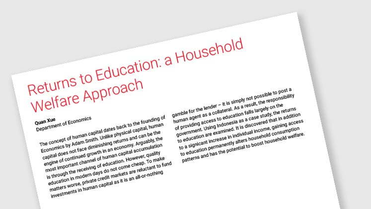 Returns to Education: a Household Welfare Approach