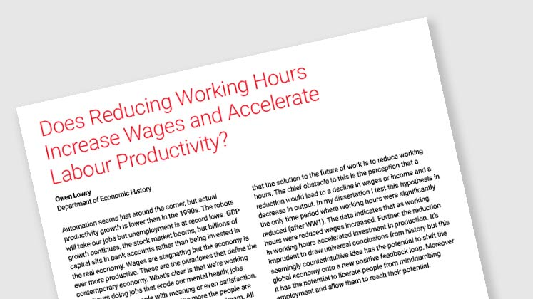 Does Reducing Working Hours Increase Wages and Accelerate Labour Productivity?