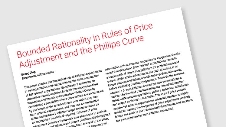 Bounded Rationality in Rules of Price Adjustment and the Phillips Curve