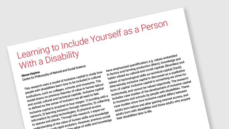 Learning To Include Yourself As A Person With A Disability