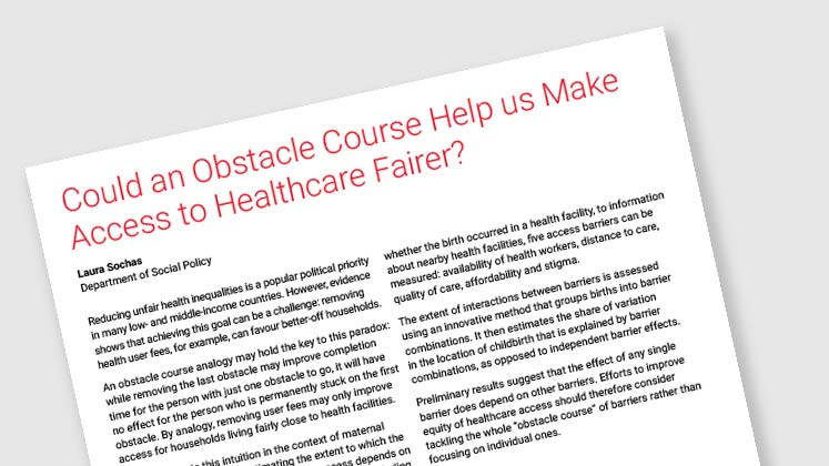 Could an Obstacle Course Help Us Make Access to Healthcare Fairer?