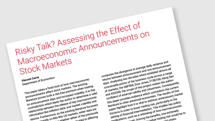 Risky Talk? Assessing the Effect of Macroeconomic Announcements on Stock Markets
