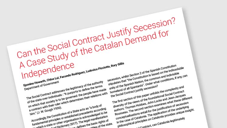 Can the Social Contract Justify Secession? A Case Study of the Catalan Demand for Independence