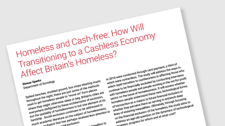 Homeless and Cash-free: How Will Transitioning to A Cashless Economy Affect Britain's Homeless?