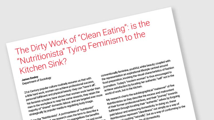 "The Dirty Work of ""Clean Eating"": is the ""Nutritionista"" Tying Feminism to the Kitchen Sink?"