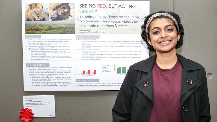 Ganga Shreedhar, winner of the Poster Prize, research competition 2018
