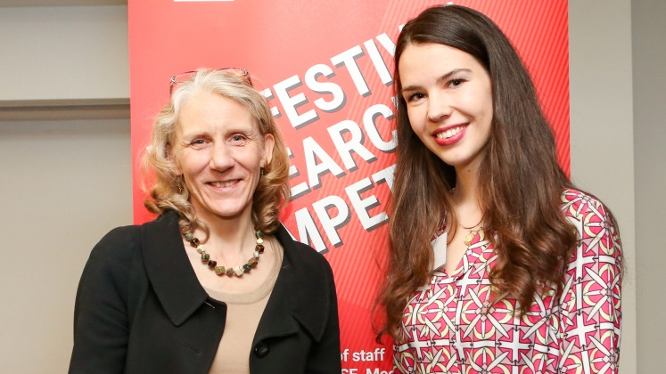 Julia Black and Aurelia Streit, winner of the Research Abstract Prize and LSE LIFE Prize, research competition 2018