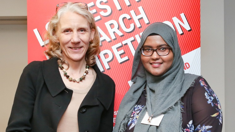 Julia Black and Farhia Abukar, winner of the Photograph Prize, research competition 2018