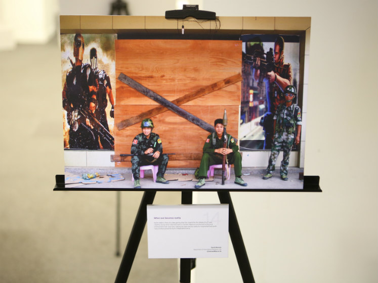 A photograph of two army men sitting down | LSE festival research competition