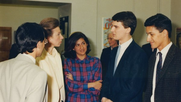Minouche Shafik as a student at the visit of HRH Princess Anne to LSE in 1986