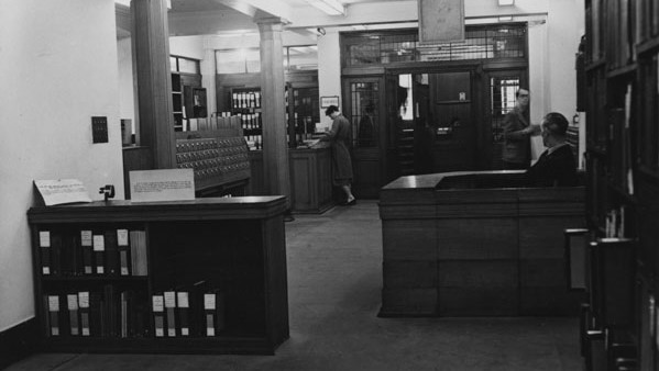 Entrance to the old Library c1950s