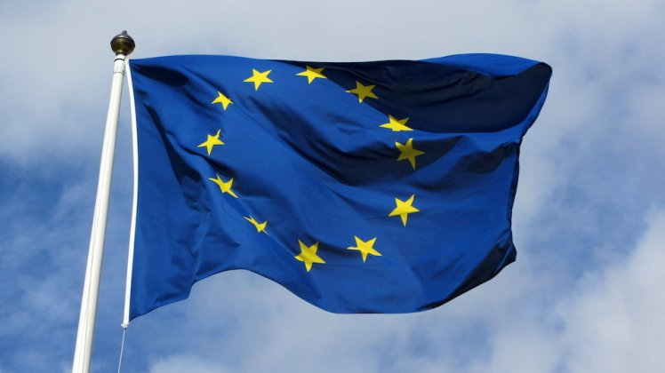 European union flag against a cloudy sky | LSE and Brexit