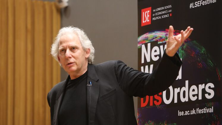 Ricky Burdett speaking at the LSE Festival