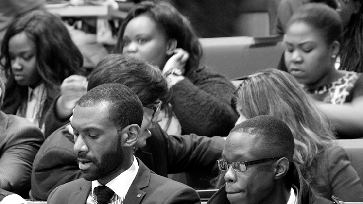 A black-and-white audience shot from the 2014 LSE Africa summit