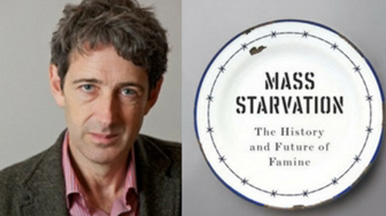 Professor Alex de Waal pictured with his new book Mass Starvation