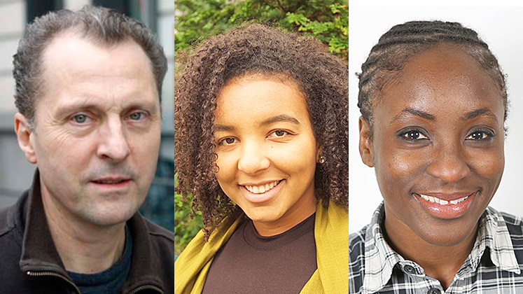 headshots of Tim Allen, Natasha Commissiong and Syerramia Willoughby