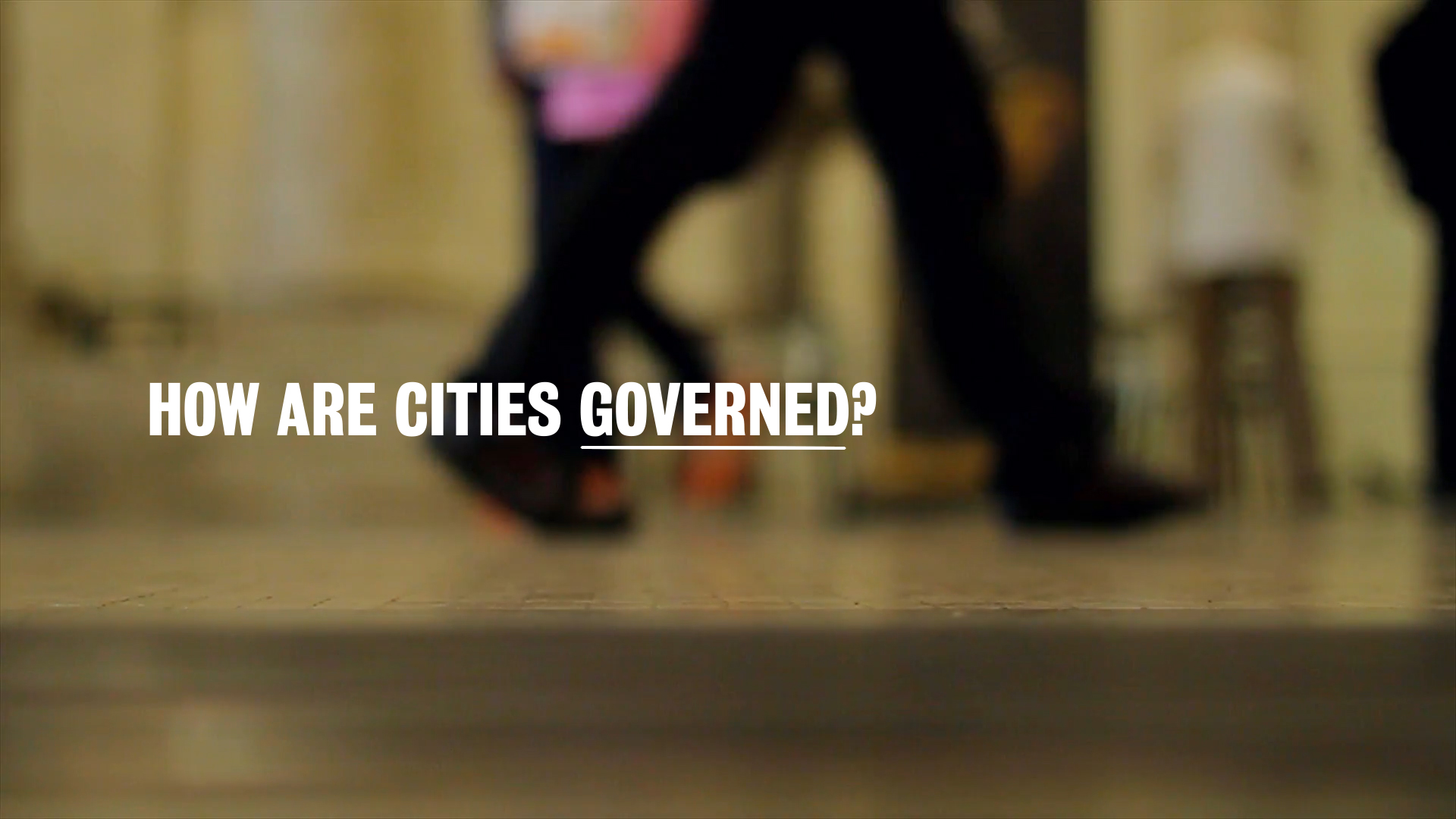 New Urban Governance you tube intro image people walking