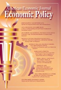 American economic journal economic policy poster