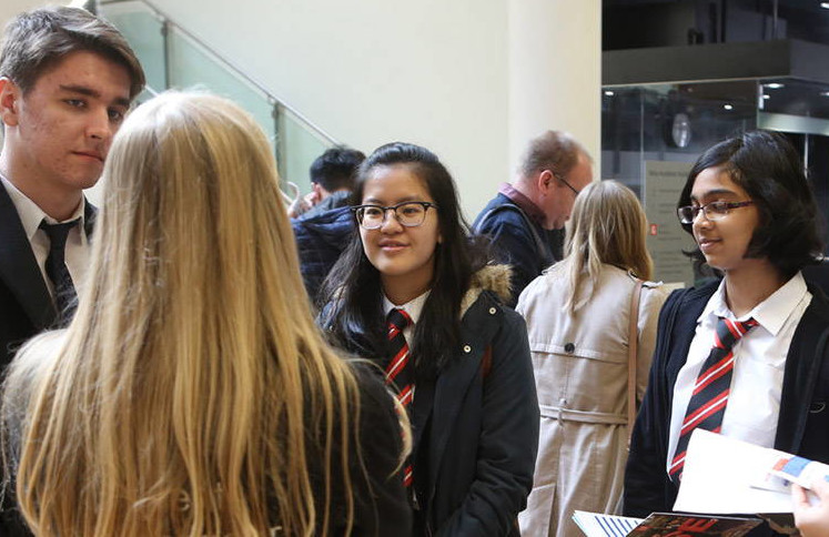 Sixth form students at an LSE Open Day