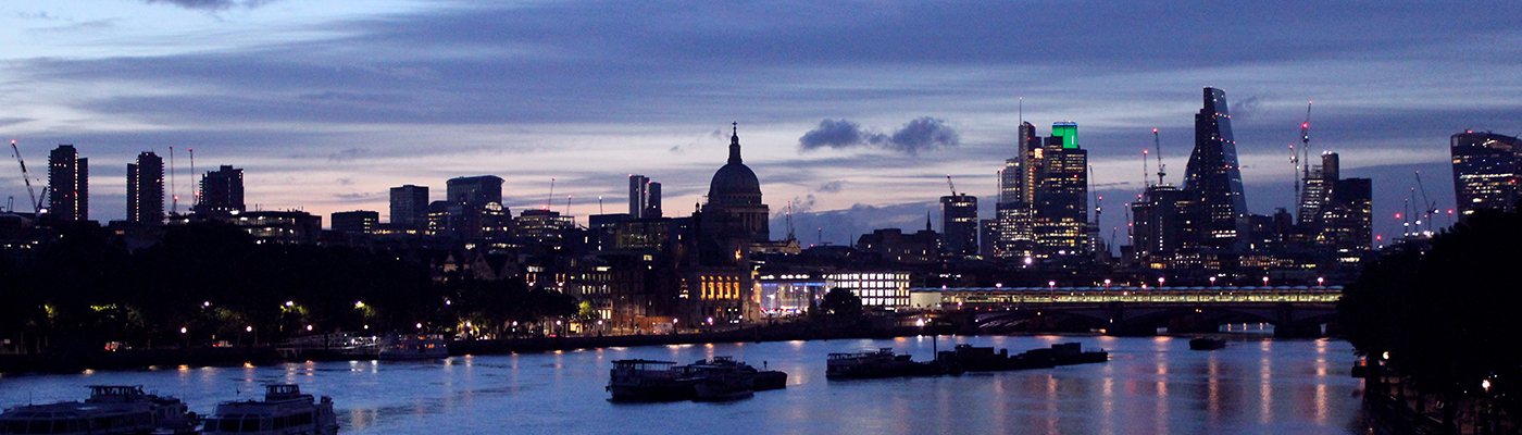 View to the east of Waterloo Bridge