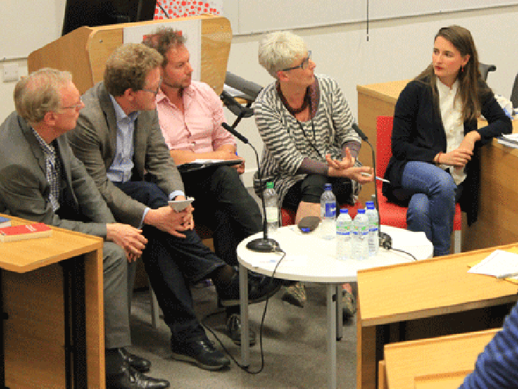 The panel speaking at the recent LSE Government event.