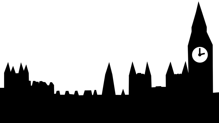 Abstract graphic of the UK Houses of Parliament