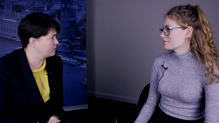 Government student Hannah Bailey interviews Ruth Davidson MSP