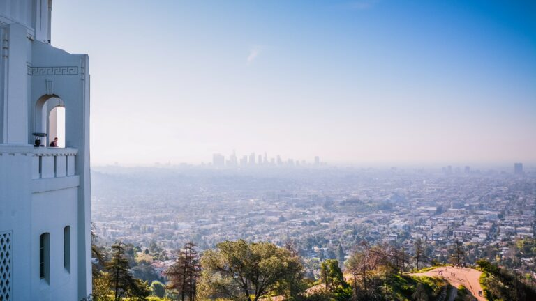 Air pollution over downtown LA