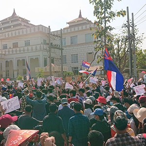 Myanmar protest against coup sq