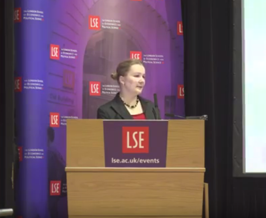 Dr Jana Uher speaking at an LSE public lecture on personality